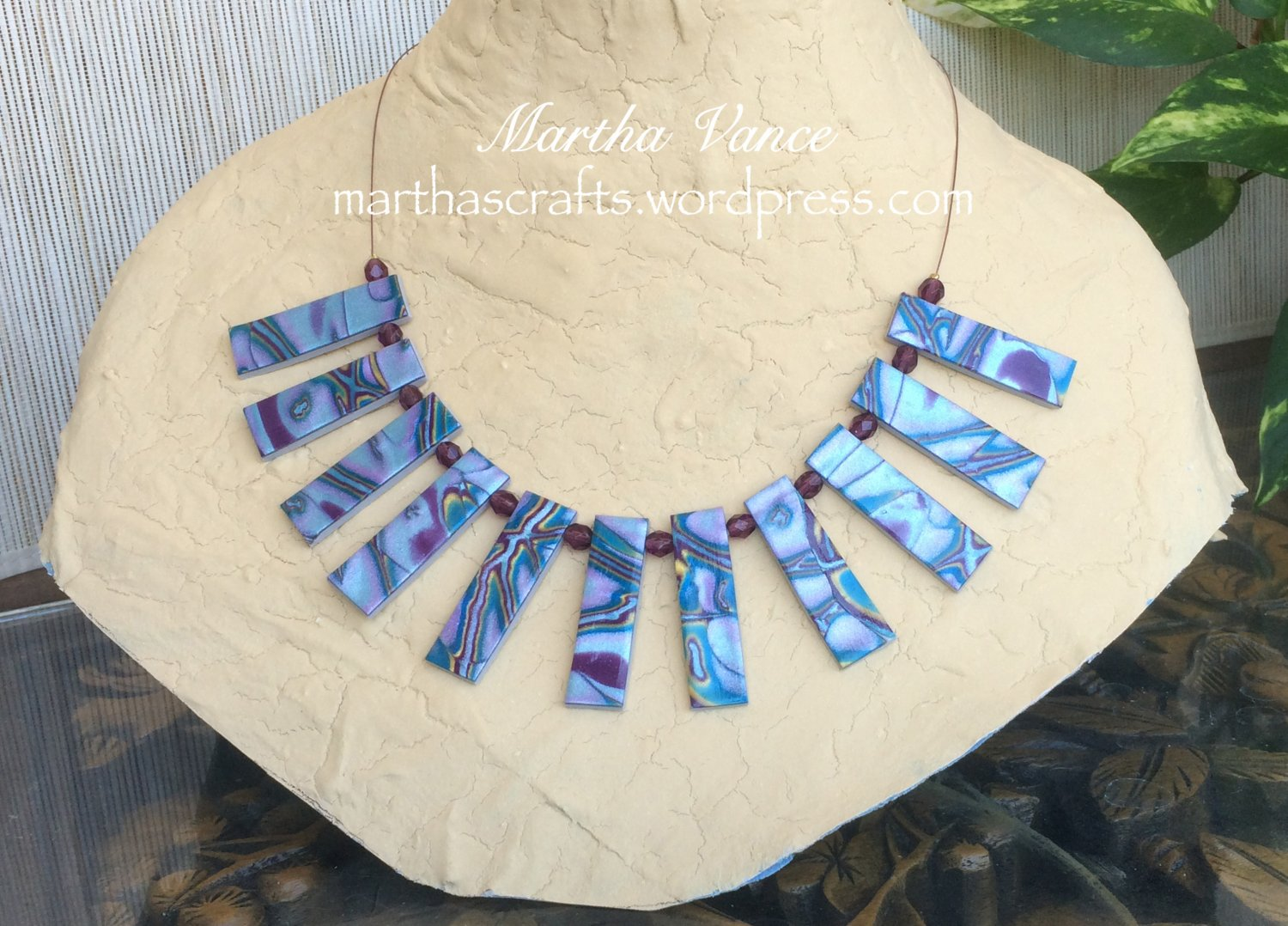 Polymer Clay Tile Necklace