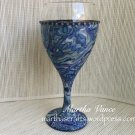 Wine Glass Faux Abalone