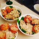 Broiled Bruscheta w/ Lemon Pepper Caesar Salad