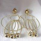 Clip-on Earrings Clip Earrings Gold Tone Bead Dangle
