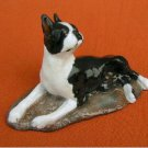 Ron Hevener Collectible Boston Terrier Dog Figurine