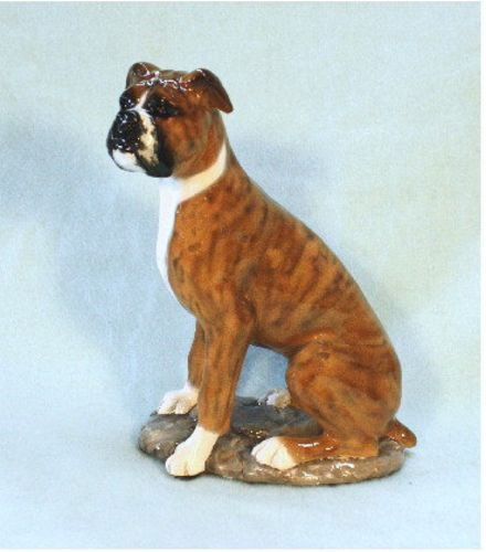 Boxer Dog Figurine