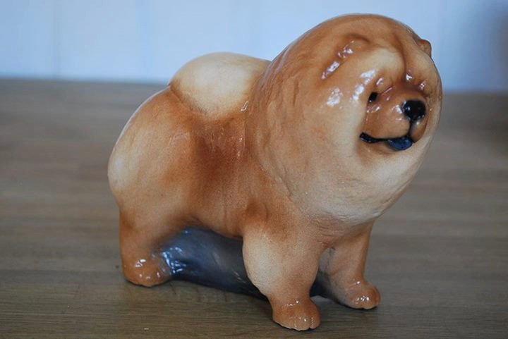 Chow Chow Dog Figurine Collectible
