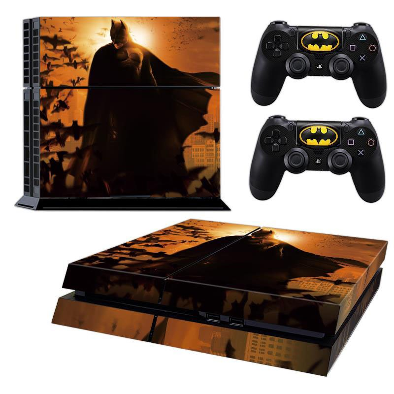 BATMAN PLAYSTATION 4 PS4 SKIN GRAPHIC VINYL STICKER DECAL + 2 CONTROLLERS