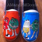 M&M's hand painted shoes