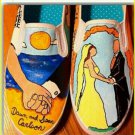 Design your own wedding hand painted shoes custom shoes wedding engagement
