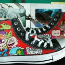 Rugrats hand painted converse shoes