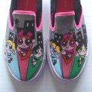 Powerpuff Girls hand painted shoes