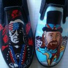 Willie Nelson hand painted shoes
