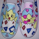 Togepi Pokemon hand painted shoes