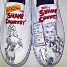 Swamp Country hand painted shoes