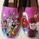 Looney Tunes  hand painted shoes