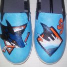 San Jose Sharks hand painted shoes