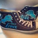 Detroit Lions Converse  hand painted shoes