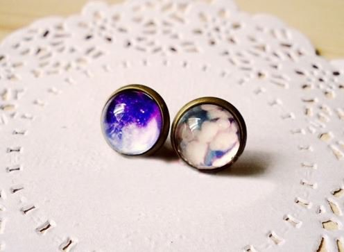 Retro Galaxy Earrings