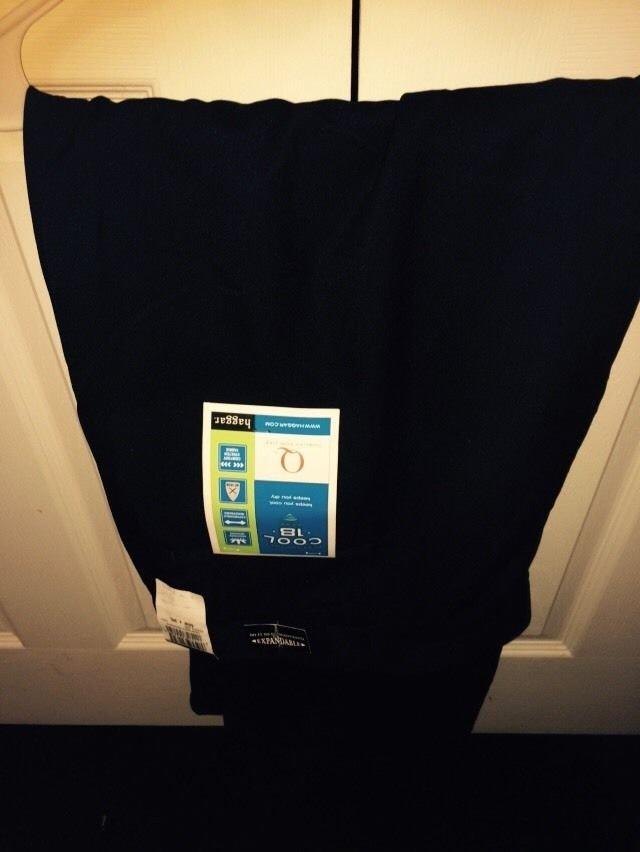 Haggar Men's Navy Blue Dress Pants Size 50 X 30