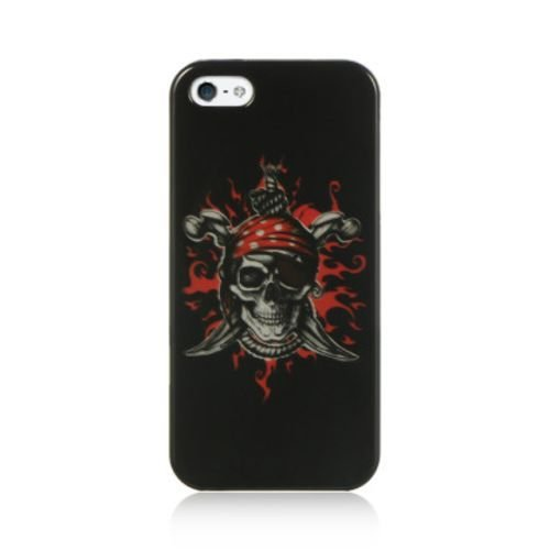 IPHONE® 5/5S CRYSTAL CASE FEARLESS For Apple, Patterned, Pictorial, Red BlacK