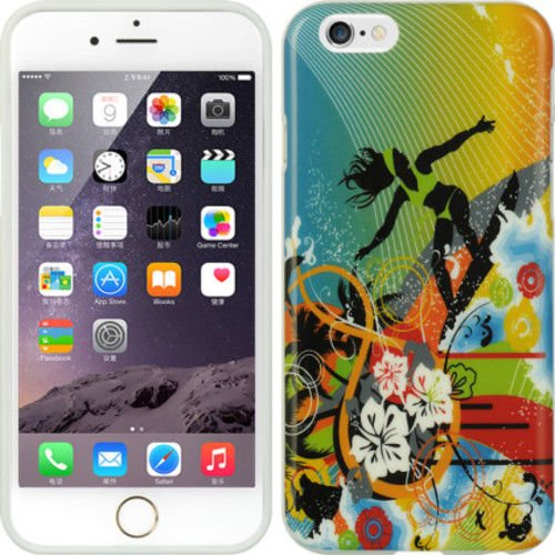 APPLE IPHONE6 (4.7�) SURFER CASE  Glossy, Pictorial and Rigid Plastic