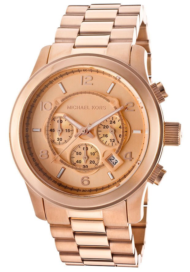 Michael Kors Men's Chronograph Rose Gold Dial Rose Gold Tone