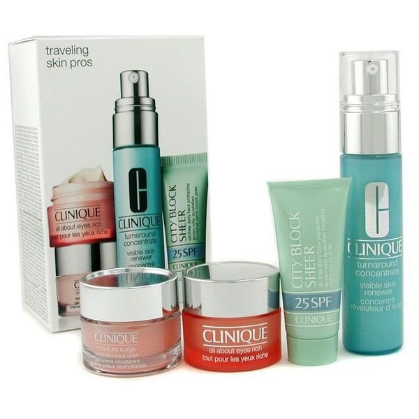 CliniqueTravelling Skin Pros  4Pc Kit