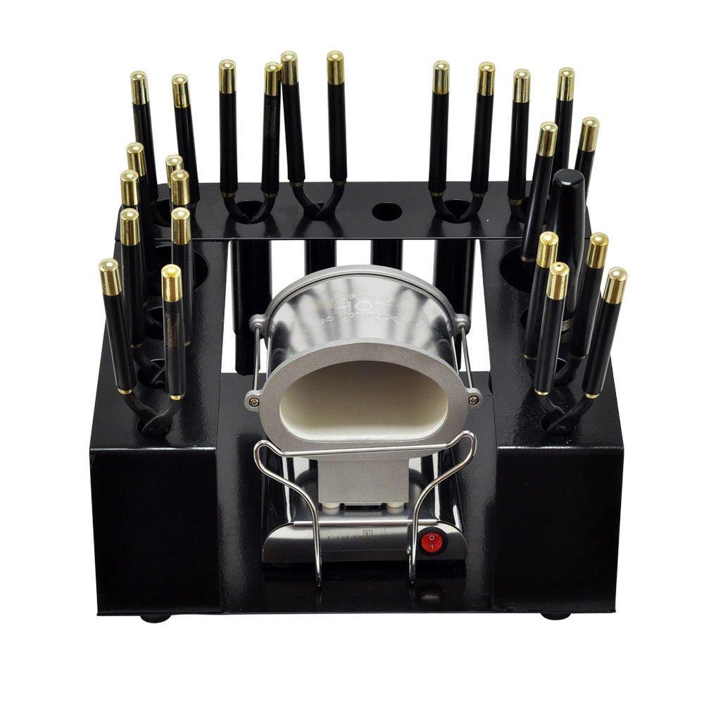 Gold N' Hot 16pc Marcel Thermal Curling Flat Iron + Jumbo Stove Kit Set GNH 5250