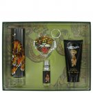Ed Hardy By Christian Audigier Gift Set -- 3.4 Oz Eau De Toilette Spray + 3 Oz S