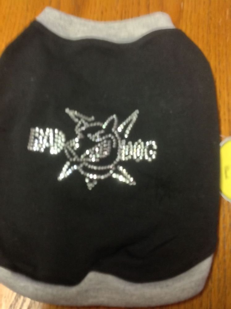 Bad Dog Bling T shirt Dog Clothes Chihuahua Dog Apparel Cotton Blend Unisex S, M