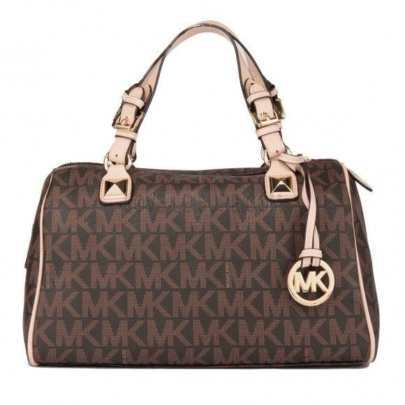 Michael Kors brown grayson handbag
