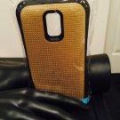Samsung Galaxy S5 Gold Armor Hybrid Case
