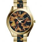 MICHAEL KORS SLIM RUNWAY TORTOISE STAINLESS STEEL WOMENS WATCH