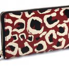 Gucci Leopard Red Black GG Logo Leather Zip Around Wallet