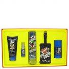 Love  Luck by Christian Audigier Gift Set -- 3.4 oz Eau De Toilette Spray  3 oz