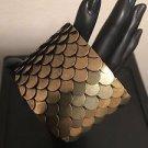 Brass Scale Pattern Cuff Bracelet