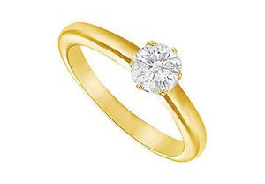 Diamond Solitaire Ring  18K Yellow Gold  0.50 CT Diamond