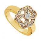 Heart Diamond Ring  14K Yellow Gold - 0.33 CT Diamonds