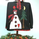 Snow Branch Country Primitive Snowman Applique Pattern for Quilt  Sweatshirt, PATTERN ONLY TCB 202