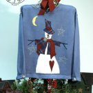 Snowbranch Stars Country Snowman Applique Pattern for Quilt  Sweatshirt, PATTERN ONLY TCB 203-1