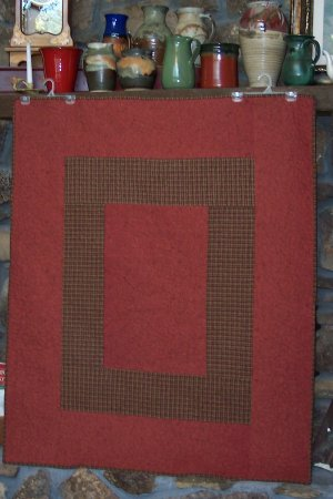 Quilted Rust Flannel Throw
