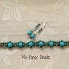 Bold Turquoise Bracelet and Earrings Set