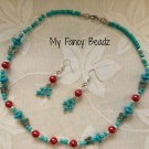Turquoise Necklace and Earrings Set
