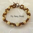 Brown and golden spiral Bracelet
