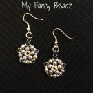 Shades of gray floweret earrings