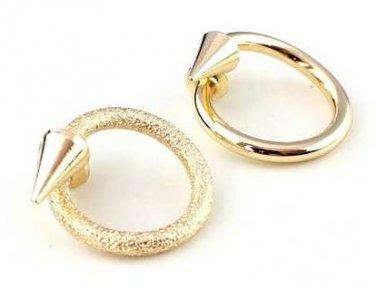 Gold color Spike Finger Adjustable Ring