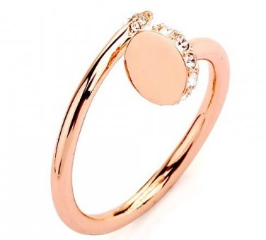18K Rose Gold Plated Button finger Ring