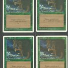 Giant Growth x4 - NM - 4th Edition - Magic the Gathering