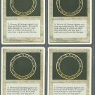 Circle of Protection Black x4 - NM - 4th Edition - Magic the Gathering