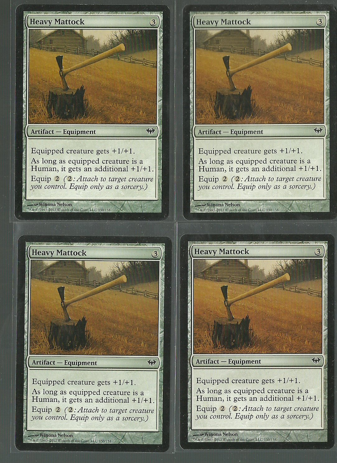 Heavy Mattock x4 NM Dark Ascension Magic the Gathering