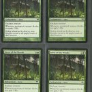 Favor of the Woods x4 NM Dark Ascension Magic the Gathering