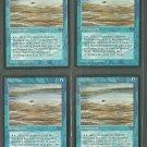 Tidal Flats V1 x4 - Good - Fallen Empires - Magic the Gathering