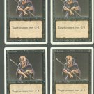 Weakness x4 - NM - Revised - Magic the Gathering